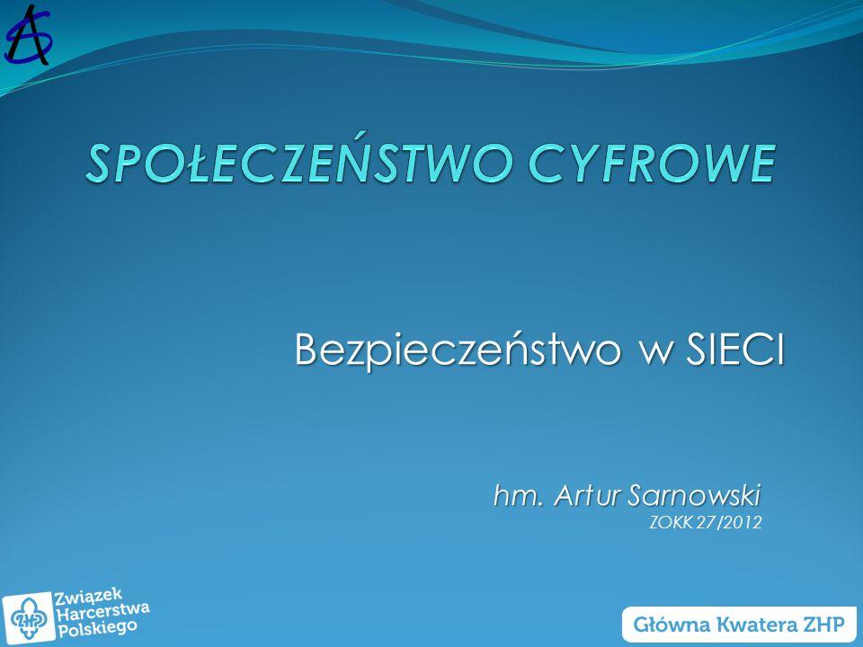 Bezpieczeństwo w SIECI hm. Artur Sarnowski ZOKK 27/2012