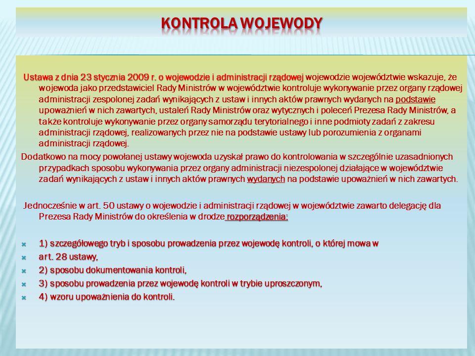Ustawa z dnia 23 stycznia 2009 r. o wojewodzie i administracji rządowej Ustawa z dnia 23 stycznia 2009 r. o wojewodzie i administracji rządowej wojewo
