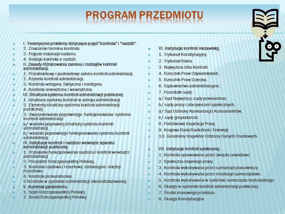 inicjatywy podjęcia kontroli 6.