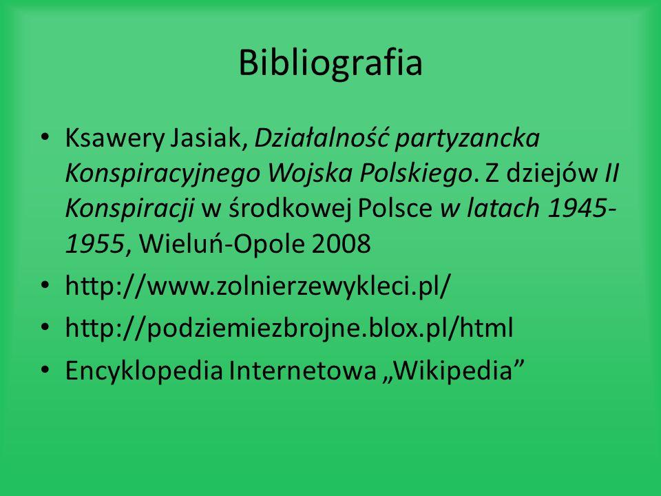 Bibliografia Ksawery Jasiak, Działalność partyzancka Konspiracyjnego Wojska Polskiego. Z dziejów II Konspiracji w środkowej Polsce w latach 1945- 1955