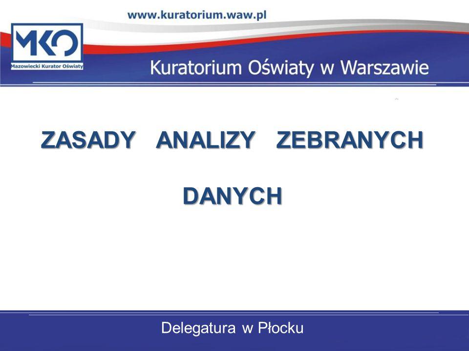 Delegatura w Płocku ZASADY ANALIZY ZEBRANYCH DANYCH