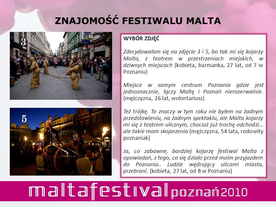 ZNAJOMOŚĆ FESTIWALU MALTA WYBÓR ZDJĘĆ Zdecydowałam się na zdjęcie 3 i 5, bo tak mi się kojarzy Malta, z teatrem w przestrzeniach miejskich, w dziwnych