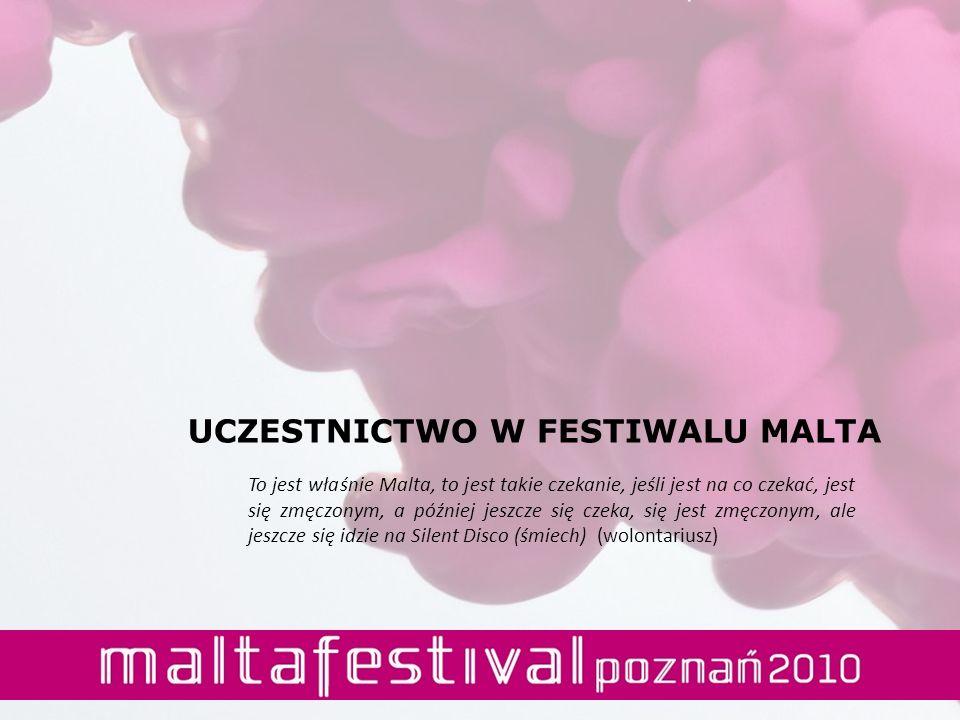 UCZESTNICTWO W FESTIWALU MALTA To jest właśnie Malta, to jest takie czekanie, jeśli jest na co czekać, jest się zmęczonym, a później jeszcze się czeka