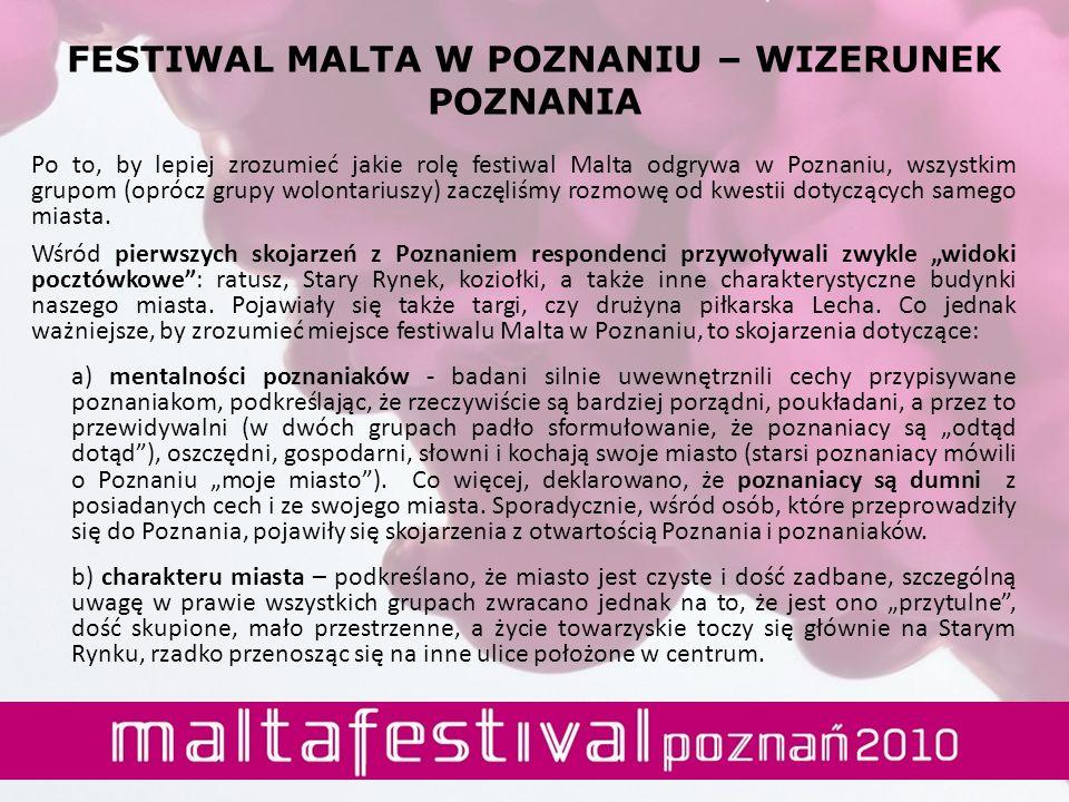 Po to, by lepiej zrozumieć jakie rolę festiwal Malta odgrywa w Poznaniu, wszystkim grupom (oprócz grupy wolontariuszy) zaczęliśmy rozmowę od kwestii d