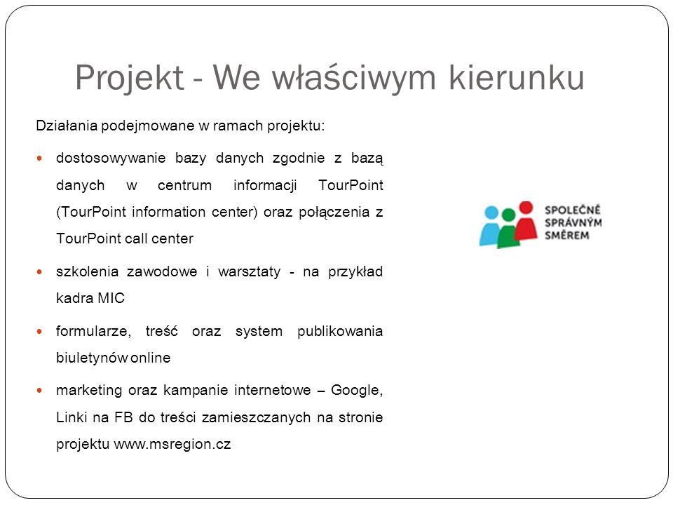 Projekt - wzdłuż granicy Treść projektu: tworzenie trwałej transgranicznej sieci partnerów, którzy stanowią podstawę do budowania trans-granicznego partnerstwa w dziedzinie profesjonalnego zarządzania i marketingu atrakcji turystycznych poprzez wspólną kampanię Odwiedź swych sąsiadów - Kraj morawsko- śląski oraz region Liptów Wdrażanie: Klacr o.s.