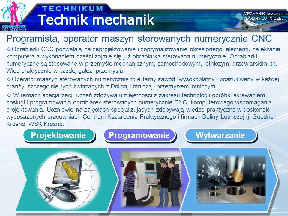 Programista, operator maszyn sterowanych numerycznie CNC Obrabiarki CNC pozwalają na zaprojektowanie i zoptymalizowanie określonego elementu na ekrani