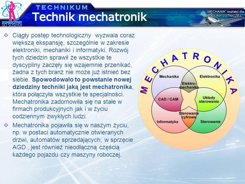 Ciągły postęp technologiczny wyzwala coraz większą ekspansję, szczególnie w zakresie elektroniki, mechaniki i informatyki. Rozwój tych dziedzin sprawi