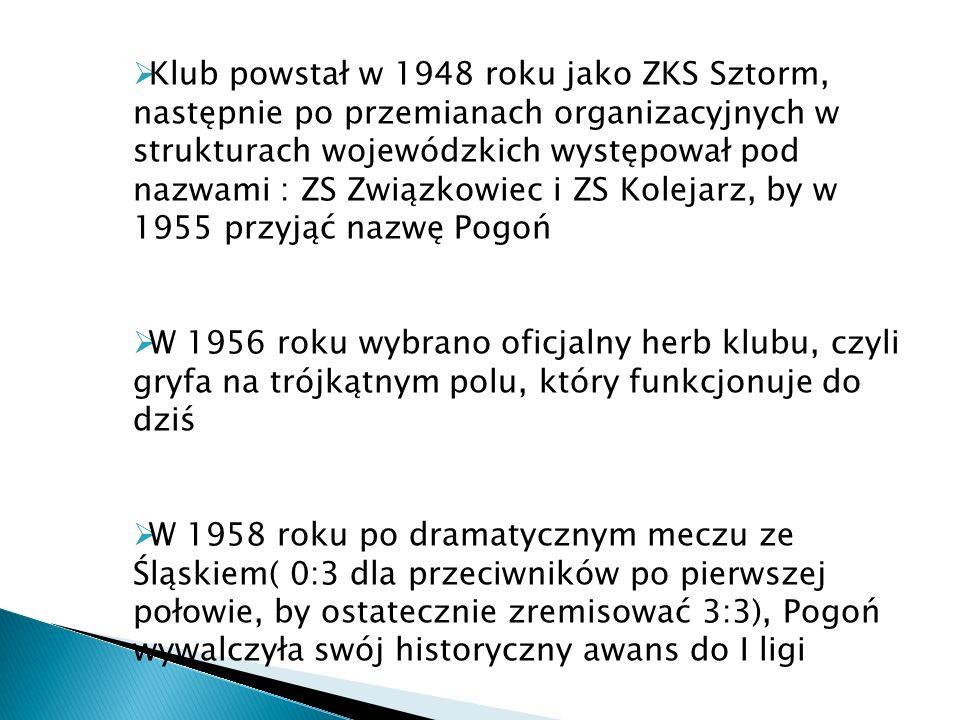 Klub powstał w 1948 roku jako ZKS Sztorm, następnie po przemianach organizacyjnych w strukturach wojewódzkich występował pod nazwami : ZS Związkowiec