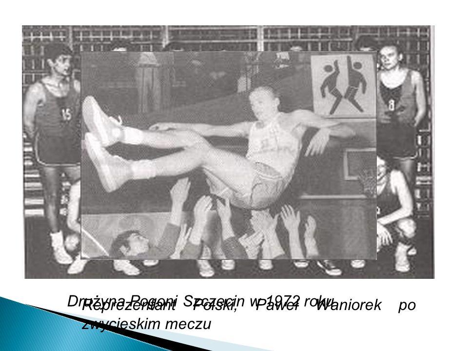 Drużyna Pogoni Szczecin w 1972 roku Reprezentant Polski, Paweł Waniorek po zwycięskim meczu
