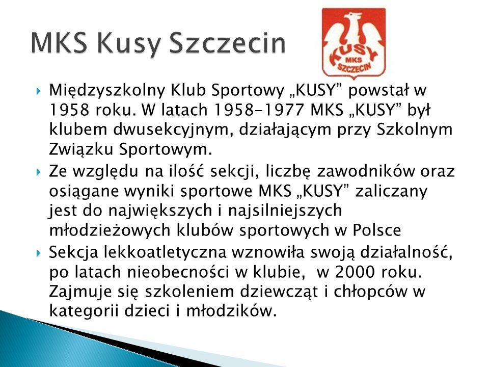 Międzyszkolny Klub Sportowy KUSY powstał w 1958 roku. W latach 1958-1977 MKS KUSY był klubem dwusekcyjnym, działającym przy Szkolnym Związku Sportowym