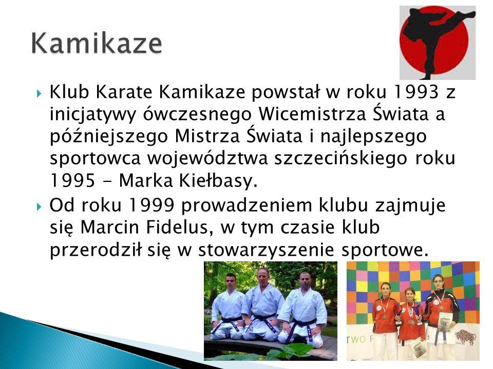 Klub Karate Kamikaze powstał w roku 1993 z inicjatywy ówczesnego Wicemistrza Świata a późniejszego Mistrza Świata i najlepszego sportowca województwa