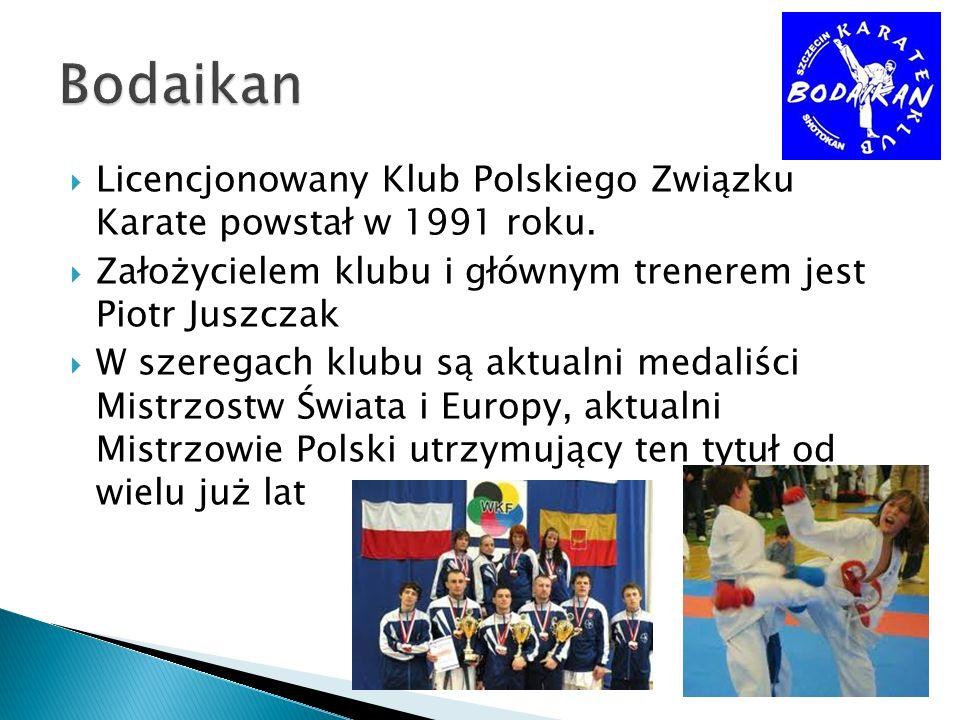 Licencjonowany Klub Polskiego Związku Karate powstał w 1991 roku. Założycielem klubu i głównym trenerem jest Piotr Juszczak W szeregach klubu są aktua