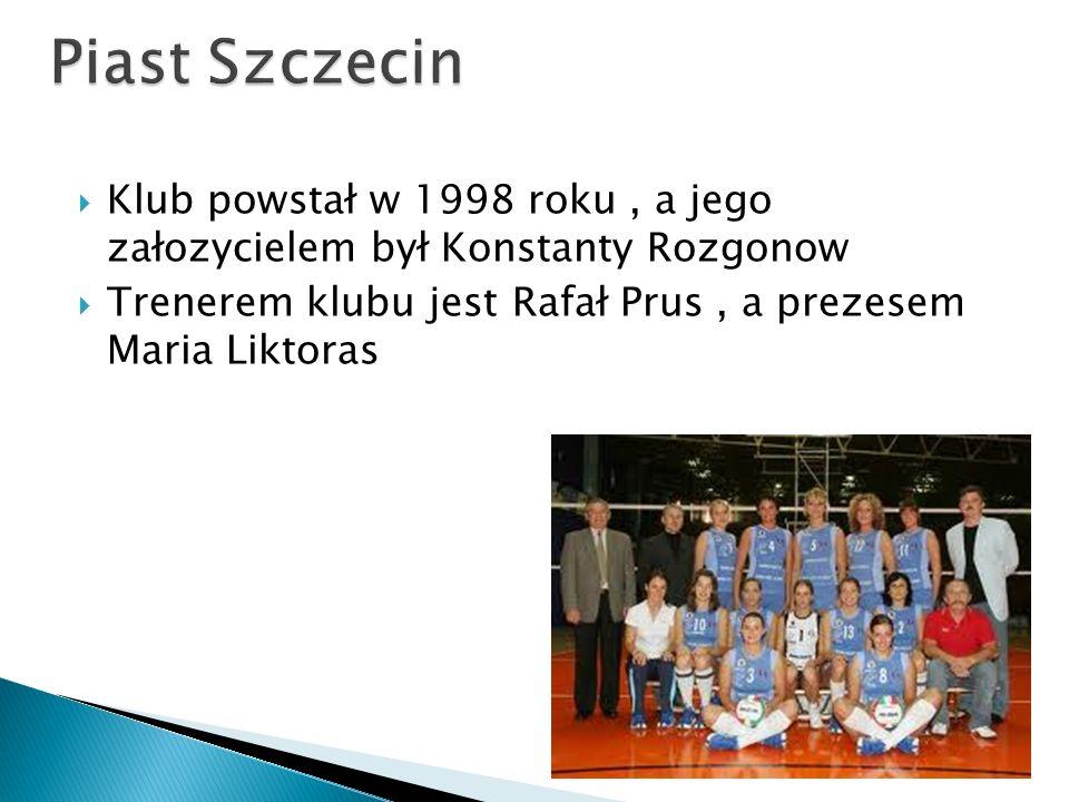 Klub powstał w 1998 roku, a jego załozycielem był Konstanty Rozgonow Trenerem klubu jest Rafał Prus, a prezesem Maria Liktoras