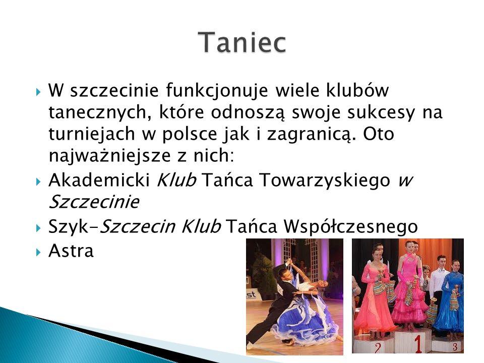 W szczecinie funkcjonuje wiele klubów tanecznych, które odnoszą swoje sukcesy na turniejach w polsce jak i zagranicą. Oto najważniejsze z nich: Akadem