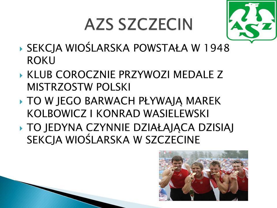 Klub powstał w 1948 roku jako ZKS Sztorm, następnie po przemianach organizacyjnych w strukturach wojewódzkich występował pod nazwami : ZS Związkowiec i ZS Kolejarz, by w 1955 przyjąć nazwę Pogoń W 1956 roku wybrano oficjalny herb klubu, czyli gryfa na trójkątnym polu, który funkcjonuje do dziś W 1958 roku po dramatycznym meczu ze Śląskiem( 0:3 dla przeciwników po pierwszej połowie, by ostatecznie zremisować 3:3), Pogoń wywalczyła swój historyczny awans do I ligi