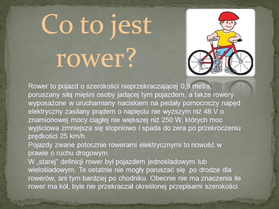 Co to jest rower.