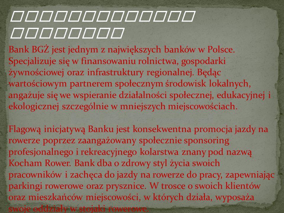 Organizatorzy Programu Bank BGŻ jest jednym z największych banków w Polsce.