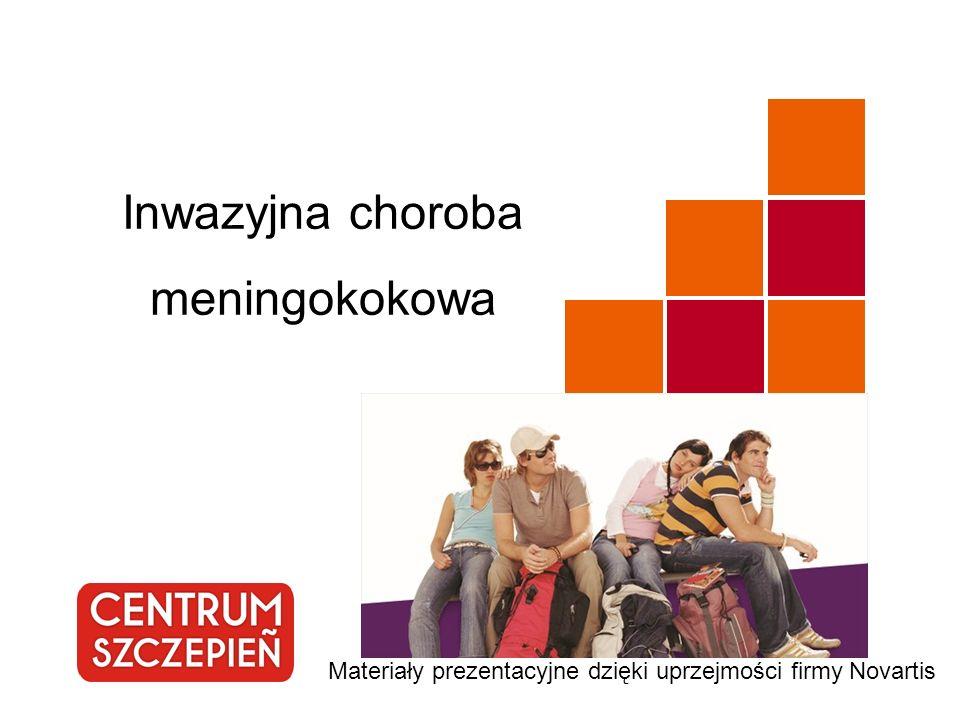 Inwazyjna choroba meningokokowa Materiały prezentacyjne dzięki uprzejmości firmy Novartis
