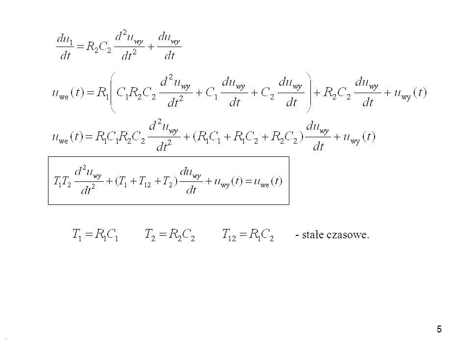 16 Obiekty astatyczne Obiekty całkujące Obiekty całkujące z inercją Obiekty całkujące Równanie wejścia – wyjścia: Transmitancja operatorowa: Transmitancja widmowa:
