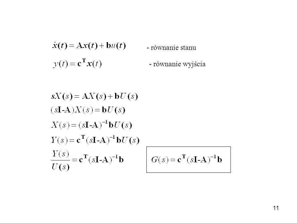 11 - równanie stanu - równanie wyjścia