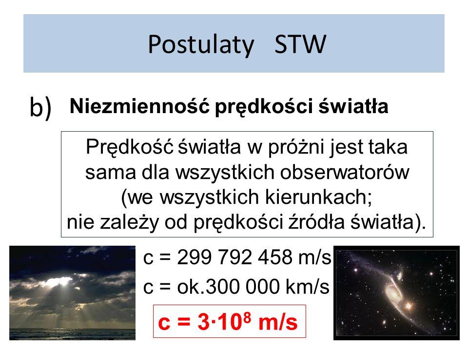 Skrócenie długości http://www.aklosek.zsei.info/pomoce/fizyka/tompkins1.html George Gamow Pan Tompkins w krainie czarów Dylatacji czasu zawsze towarzyszy kontrakcja przestrzeni.