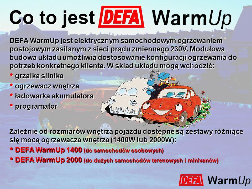 Co to jest DEFA WarmUp jest elektrycznym samochodowym ogrzewaniem postojowym zasilanym z sieci prądu zmiennego 230V. Modułowa budowa układu umożliwia