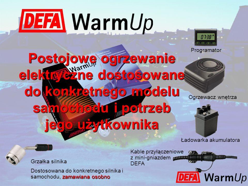 Programator Ogrzewacz wnętrza Ładowarka akumulatora Kable przyłączeniowe z mini-gniazdem DEFA Postojowe ogrzewanie elektryczne dostosowane do konkretn