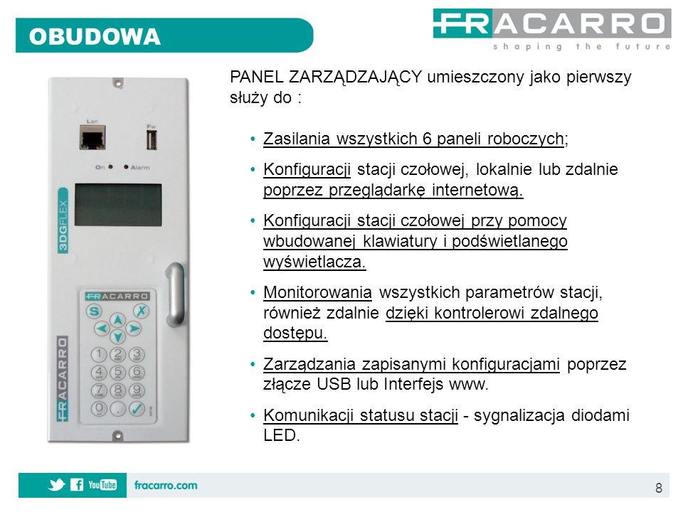 9 Panel zdalnego zarządzania Zintegrowany kontroler zdalnego zarządzania umożliwia zdalną zmianę parametrów przez Internet jak również wysyłanie alarmów o stanie stacji do smartfona na adres email.
