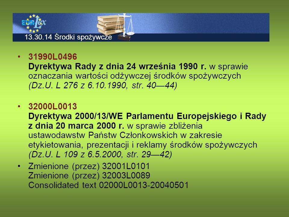 Rozporządzenie w sprawie znakowania środków spożywczych 400 kcal/100g 1700 kJ/100g