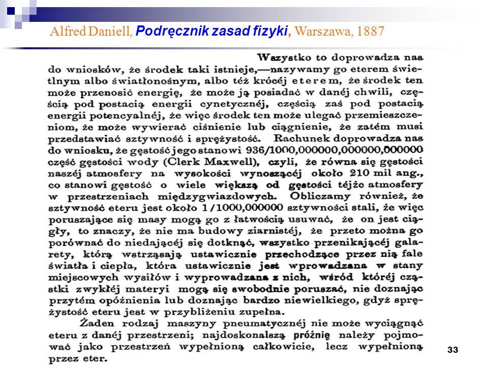 33 Alfred Daniell, Podręcznik zasad fizyki, Warszawa, 1887