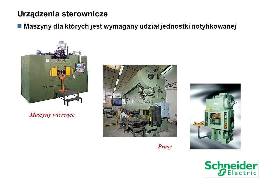 Maszyny wiercące Prasy Maszyny dla których jest wymagany udział jednostki notyfikowanej Urządzenia sterownicze