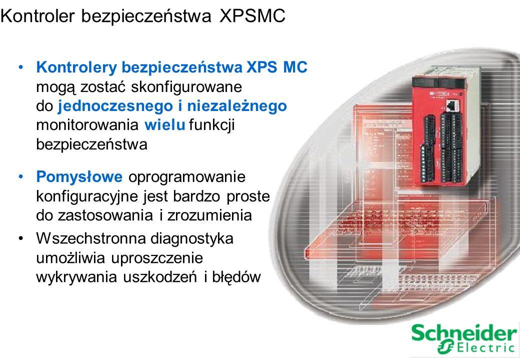 7. Podsumowanie Kontrolery bezpieczeństwa XPS MC mogą zostać skonfigurowane do jednoczesnego i niezależnego monitorowania wielu funkcji bezpieczeństwa