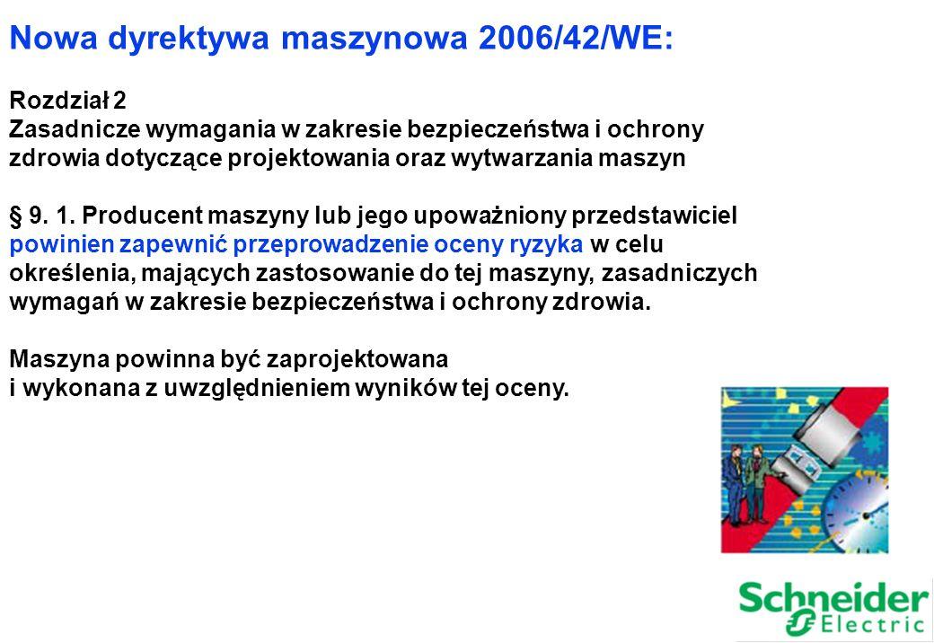 Nowa dyrektywa maszynowa 2006/42/WE: Rozdział 2 Zasadnicze wymagania w zakresie bezpieczeństwa i ochrony zdrowia dotyczące projektowania oraz wytwarza