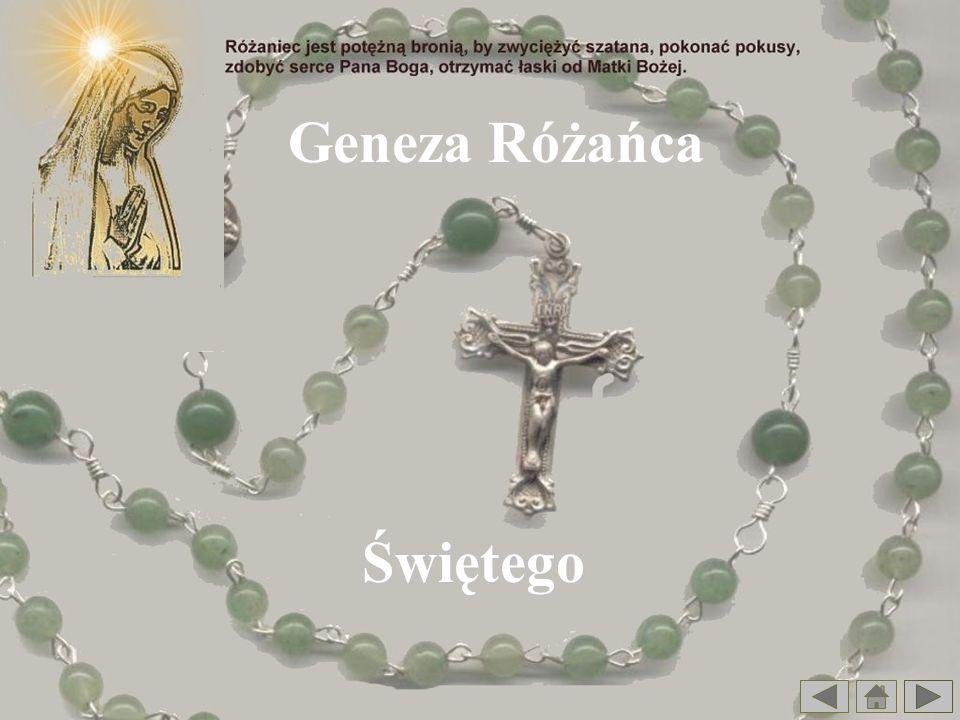 Legendy o Różańcu Pewien młody zakonnik miał godne pochwały upodobanie, odmawiania każdego dnia przed śniadaniem koronki do Najświętszej Maryi Panny.