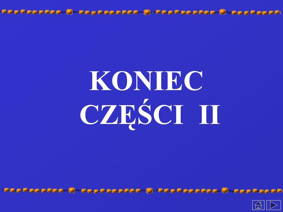 KONIEC CZĘŚCI II