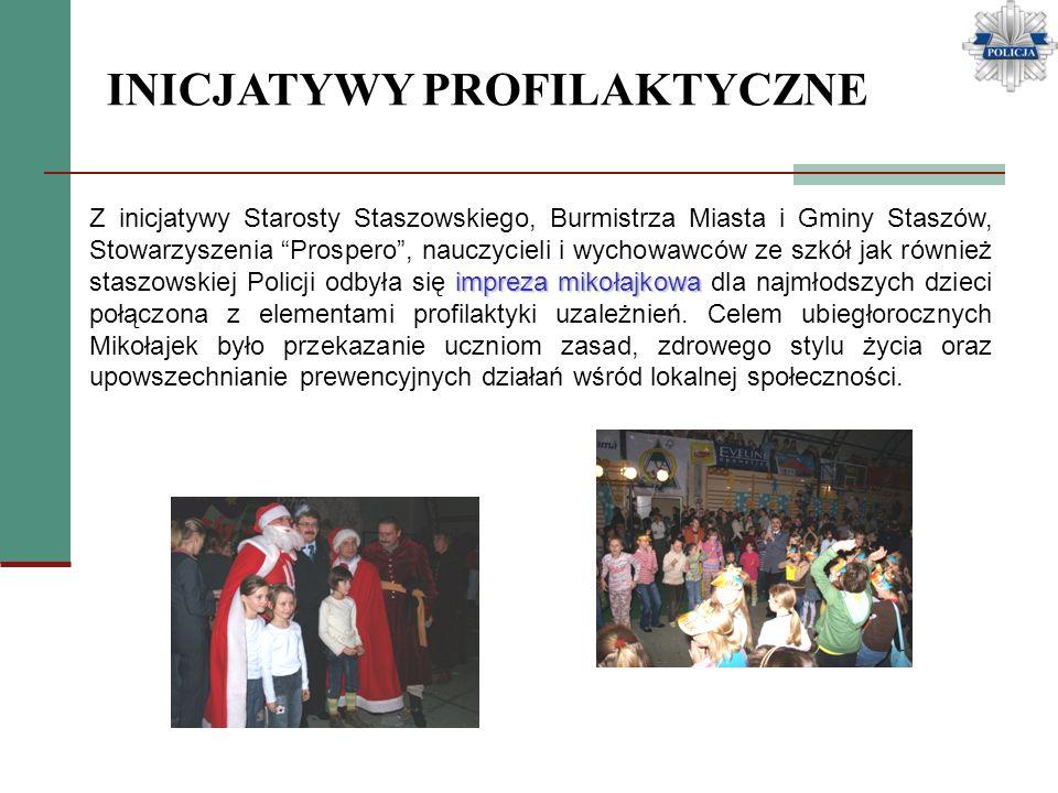 impreza mikołajkowa Z inicjatywy Starosty Staszowskiego, Burmistrza Miasta i Gminy Staszów, Stowarzyszenia Prospero, nauczycieli i wychowawców ze szkó