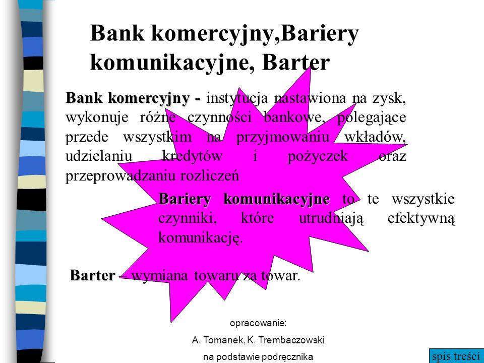 spis treści opracowanie: A. Tomanek, K. Trembaczowski na podstawie podręcznika Bariery komunikacyjne Bariery komunikacyjne to te wszystkie czynniki, k