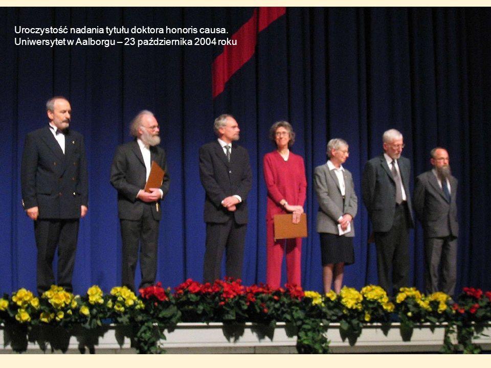 Uroczystość nadania tytułu doktora honoris causa. Uniwersytet w Aalborgu – 23 października 2004 roku