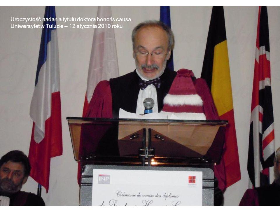 Uroczystość nadania tytułu doktora honoris causa. Uniwersytet w Tuluzie – 12 stycznia 2010 roku