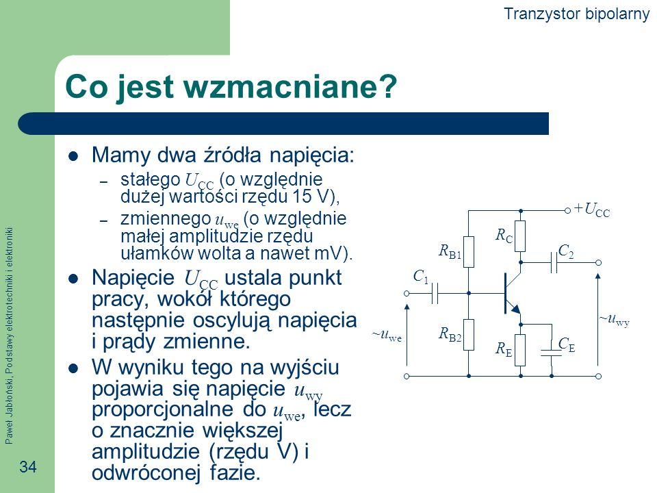 Paweł Jabłoński, Podstawy elektrotechniki i elektroniki 34 Co jest wzmacniane.