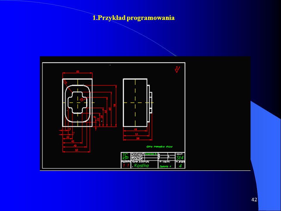 41 Możliwości Programowe Układ SINUMERIK 810M jest mikroprocesorowym układem sterowania CNC Stosowanym w frezarkach umożliwia on: ˇ programowanie kszt