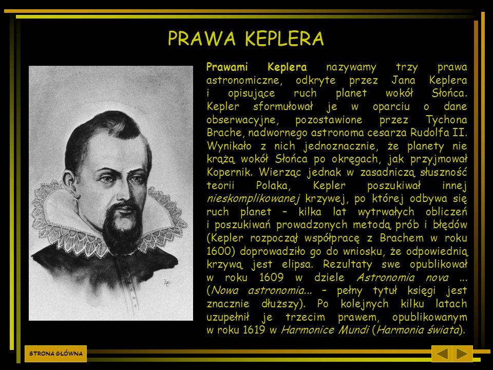 Prawami Keplera nazywamy trzy prawa astronomiczne, odkryte przez Jana Keplera i opisujące ruch planet wokół Słońca. Kepler sformułował je w oparciu o