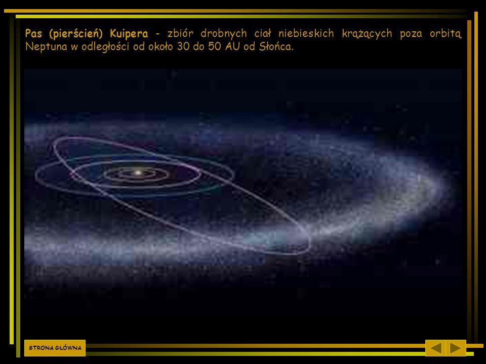 Pas (pierścień) Kuipera - zbiór drobnych ciał niebieskich krążących poza orbitą Neptuna w odległości od około 30 do 50 AU od Słońca.. STRONA GŁÓWNA