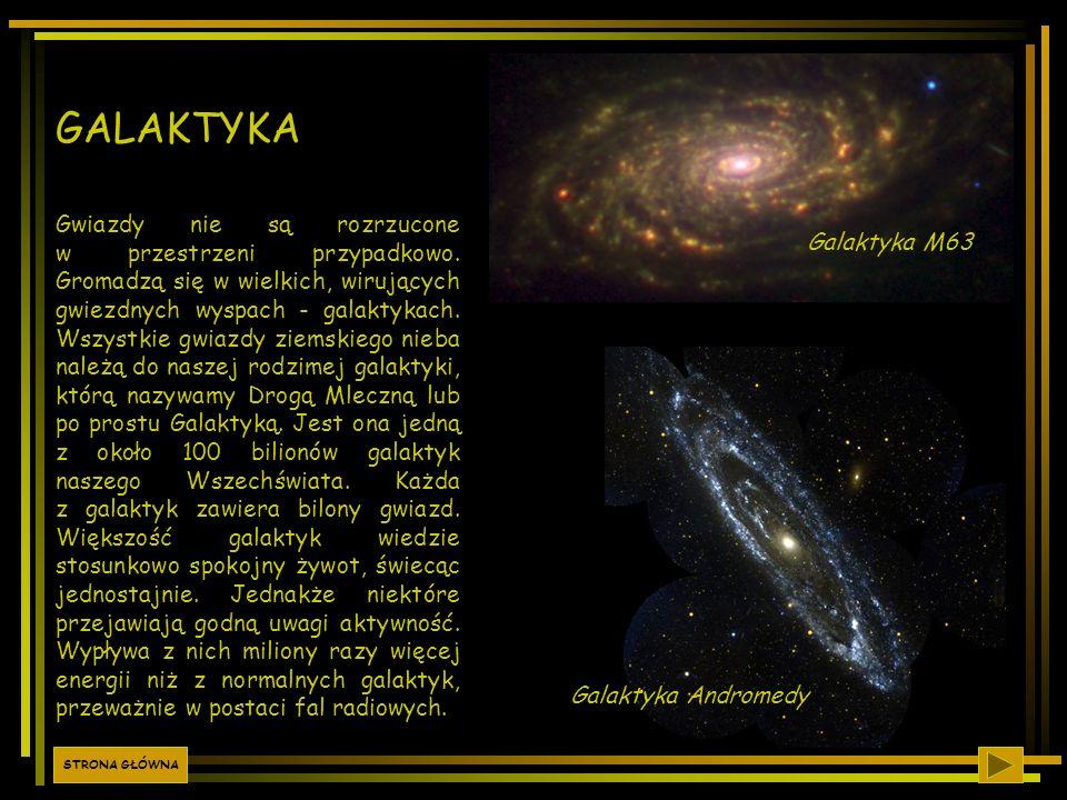Gwiazdy nie są rozrzucone w przestrzeni przypadkowo. Gromadzą się w wielkich, wirujących gwiezdnych wyspach - galaktykach. Wszystkie gwiazdy ziemskieg