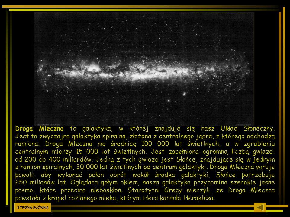 Droga Mleczna to galaktyka, w której znajduje się nasz Układ Słoneczny. Jest to zwyczajna galaktyka spiralna, złożona z centralnego jądra, z którego o