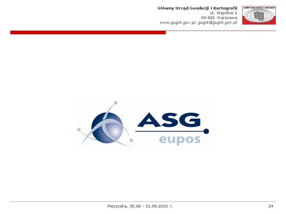 Główny Urząd Geodezji i Kartografii ul. Wspólna 2 00-926 Warszawa www.gugik.gov.pl, gugik@gugik.gov.pl Pieczyska, 30.08 - 01.09.2010 r.24
