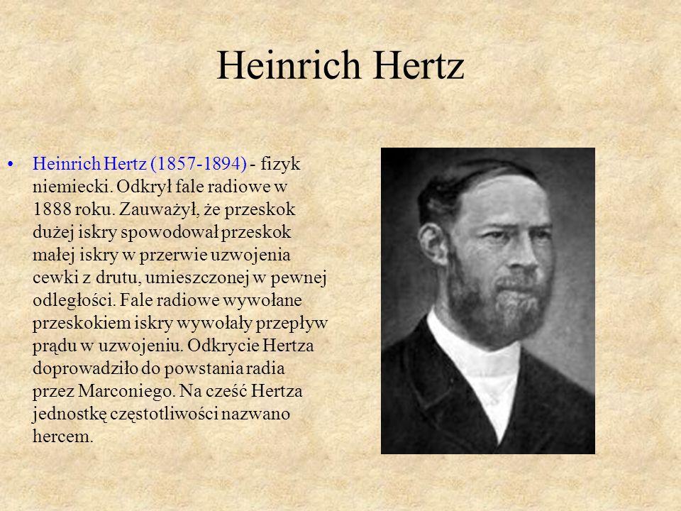 Heinrich Hertz Heinrich Hertz (1857-1894) - fizyk niemiecki.