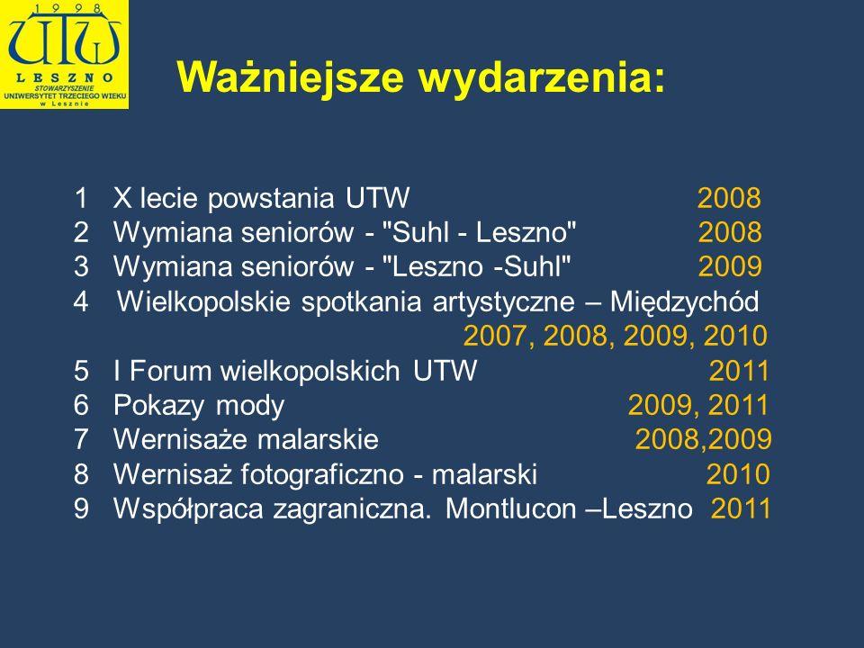 1 X lecie powstania UTW 2008 2 Wymiana seniorów -
