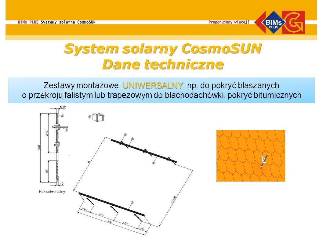 UNIWERSALNY Zestawy montażowe: UNIWERSALNY np. do pokryć blaszanych o przekroju falistym lub trapezowym do blachodachówki, pokryć bitumicznych do dach