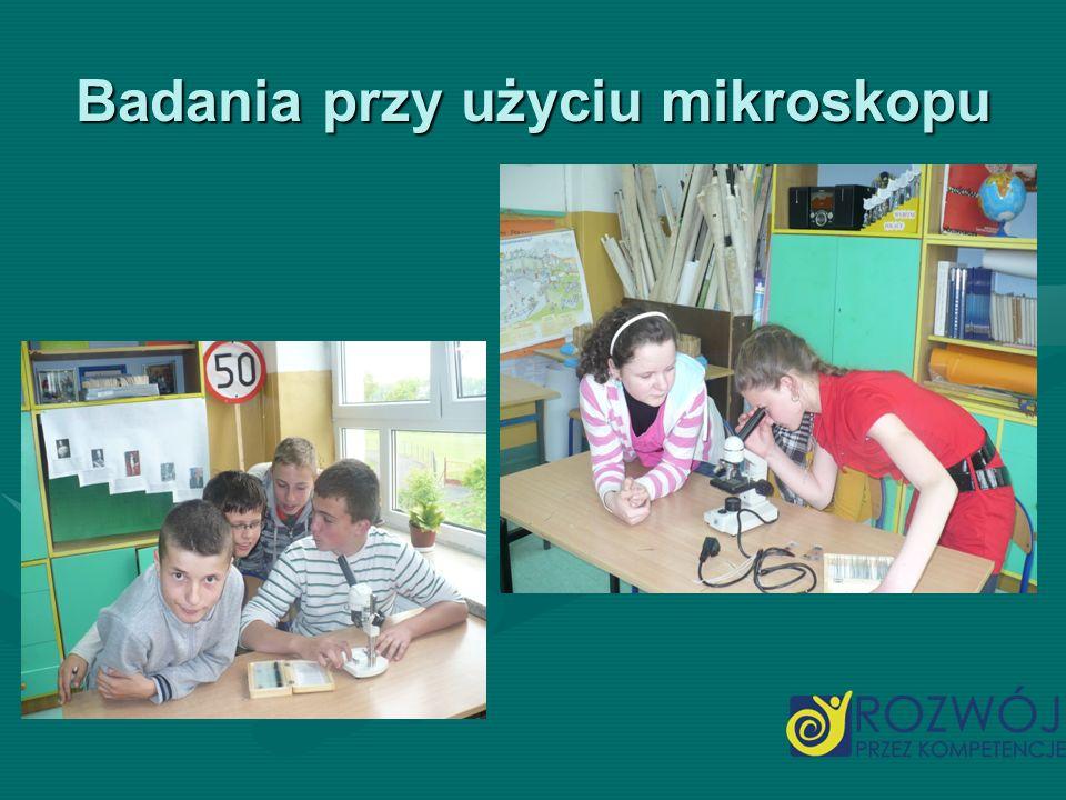 Badania przy użyciu mikroskopu